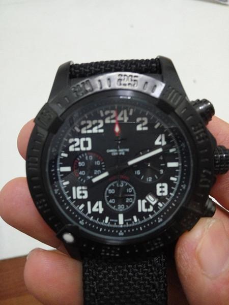 Brei Relógio De Quartzo Homens Mostrador Preto Cinto de Nylon Original fecho 1884 Relógio Digital frete grátis HK