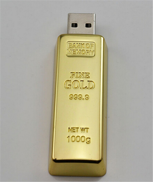 20pcs epacket/post 100% Real Capacity Gold bar 1GB 2GB 4GB 8GB 16GB 32GB 64GB 128GB 256GB USB Flash Drive Memory Stick with OPP Packaging 01
