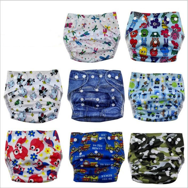 Baby Diapers Toddler Cloth Nappies Nappy Diapers TPU Print Reusable Diaper Covers Waterproof Washable Adjustable Newborn Cloth Diapers B3161