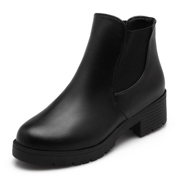 Ladies Ankle Boots Women Square Zapatos Mujer Sexy Short Boots ...