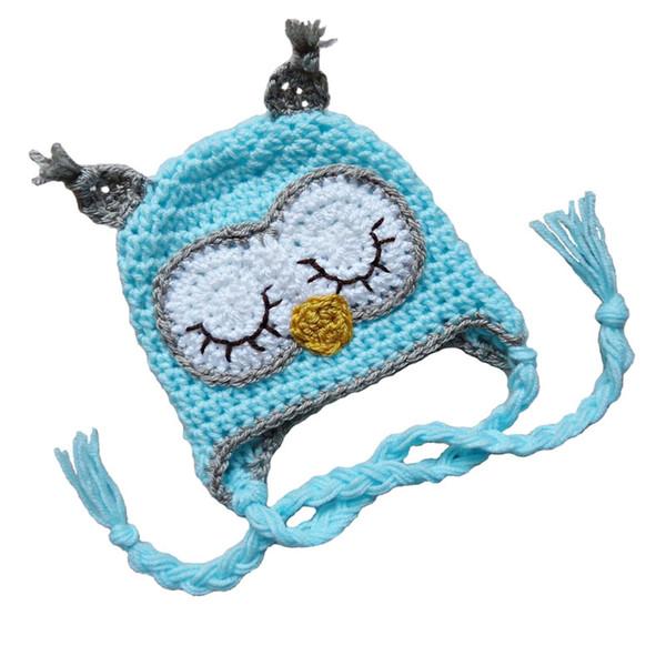 Adorable Sleepy Owl Hat,Handmade Knit Crochet Baby Boy Girl Owl Hat,Infant Toddler Animal Hat,Kids Halloween Costume,Newborn Photo Prop