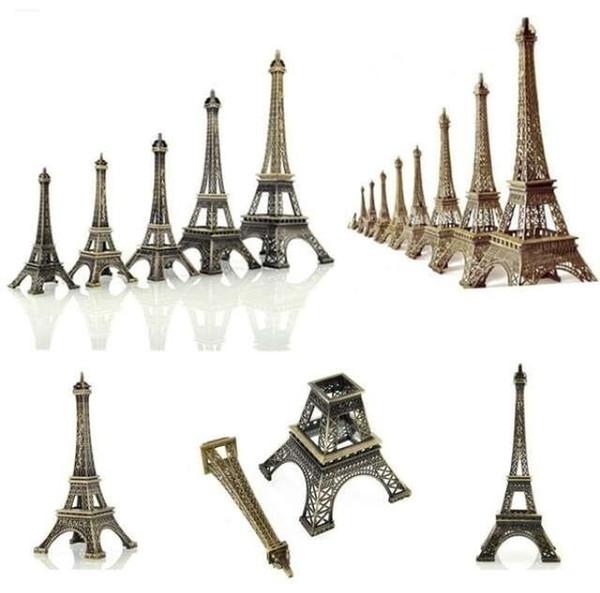 Vente chaude 1 pc Bronze Paris Tour Eiffel métal Figurine Statue vintage Modèle Accueil Décors en alliage Souvenir