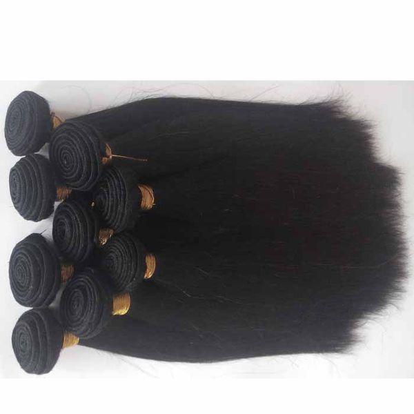 Unverarbeitete brasilianische reine Haarverlängerung Grad 6A heißer Verkauf peruanische Indin Remy Haareinschlagfaden natürliche Farbe 1pc / lot 8-26inch Menschenhaar spinnt