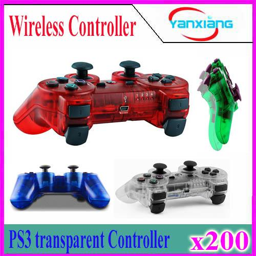 top popular 2018 new Transparent Bluetooth Gamepad for P3 Controller Wireless Bluetooth Joysticks for Wireless Game Controller 200pcs YX-PS-O5 2019