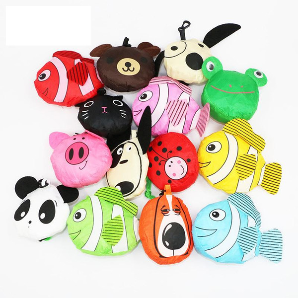 best selling MIC 20 styles New Cute Useful Animal Bee Panda Pig Dog Rabbit Foldable Eco Reusable Shopping Bags