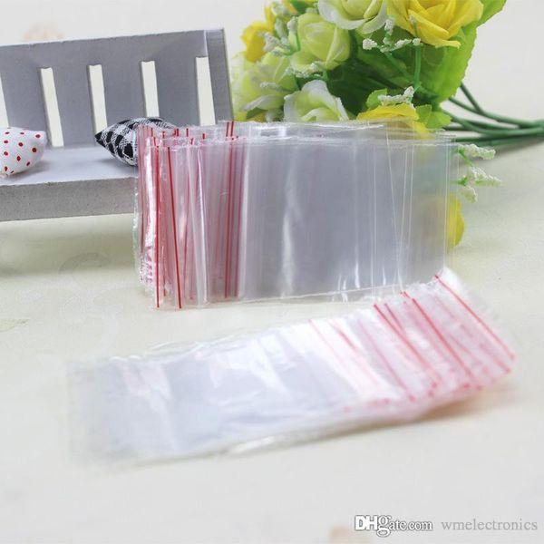 Siegelbeutel Kunststoff PE Zip Lock Beutel Jewery Ring Ohrringe Lagerung von Lebensmitteln Verpackung Paket 4 * 6cm 5 * 7cm 6 * 8cm 7 * 10cm