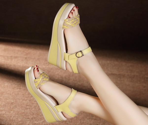 2016 yaz yeni moda kadın sandalet ayakkabı platformu