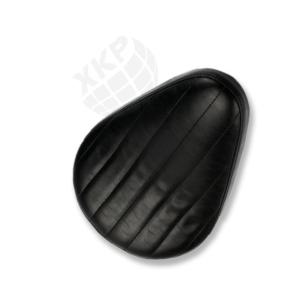 Motorcycle Black Leather Tuck & Roll SOLO Seat for Harley Chopper Bobber Custom