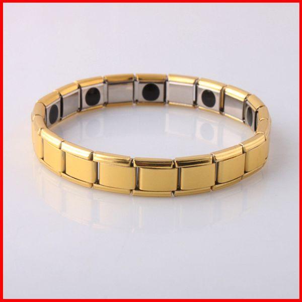New Fashion Jewelry Magnetic Titanium Bio Energy Bracelet For Men Blood Pressure Health Care Bracelets 160812