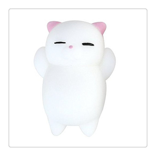 Wholesale Cute Squishy Cat Kawaii Squishies Squeeze Stretchy Animal Phone Charms Healing Stress Reliever Toys Cellphone Case Chains Free DHL