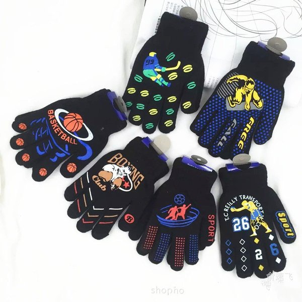 wholesale Kids Mittens Boys Soft Knitting winter Warm Gloves bike cycle gloves for 1-5 ages