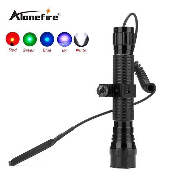 501C 1set Tactical LED Flashlight Handheld Tactical Torch Water Resistant Lamp for Outdoor Sports+scope mounts+remote pressure switch