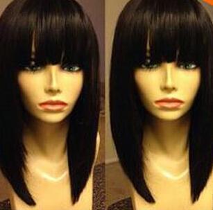 100% a estrenar de alta calidad pelucas llenas del cordón de la foto de la moda pelucas populares largas del partido de la peluca del pelo del cosplay del partido para las mujeres