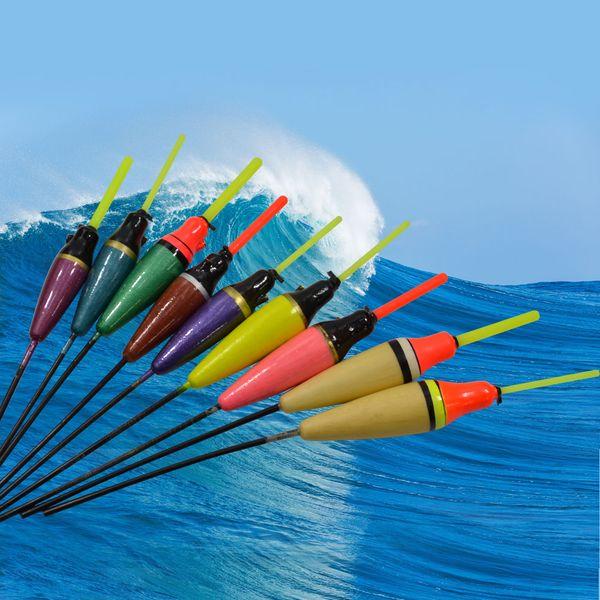 Wholesale- Hot New 1PC Balsa Fishing Float Lure Floats Bobbers Flotteur Peche For Carp Fishing Slip Drift Tube Indicator Assorted Sizes