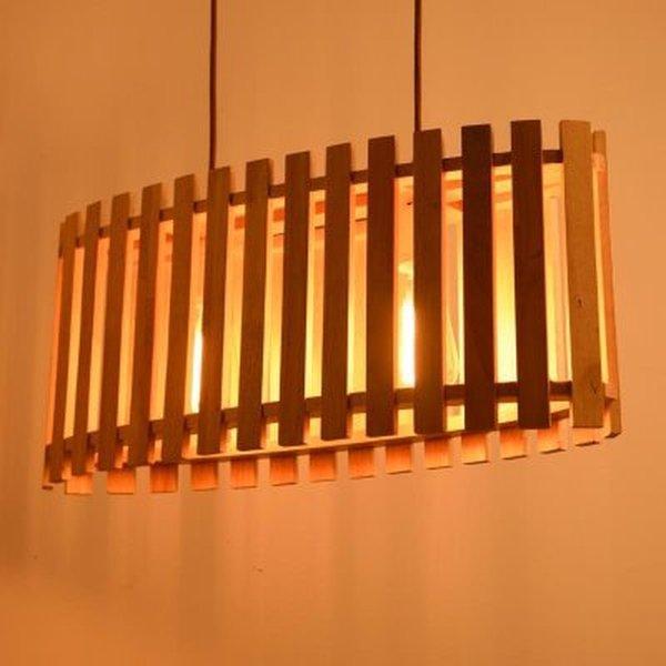 großhandel solide hölzerne hängende lampe diy kurzes einfaches, Wohnzimmer