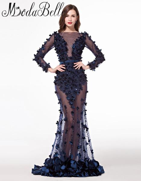 Royal Blue abiti da sera lunghi abiti da sera con maniche plus size Importato Prom Party Dress abendkleider lang