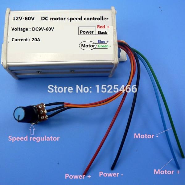 12 В 24 В 48 В 20A ШИМ DC Регулятор Скорости Двигателя Драйвер Бесщеточный NE555 25 КГц для JGB37-520 RS360 RS-360 370 380 R3157 GW80170 Насос