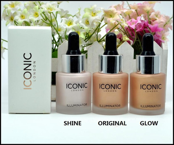 Iconic London illuminator Liquid Highlighter In Shine original shine glow three color face make up highlighter 3 color 13.5ML free shipping