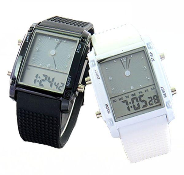 Il modo all'ingrosso degli orologi 50pcs / lot guarda la vigilanza elettronica principale LW011 del silicone di sport della vigilanza digitale fresca del flash