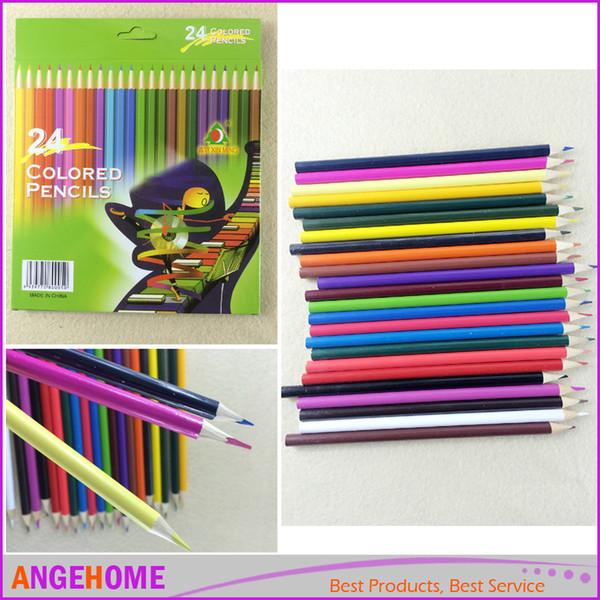 Compre 12 Unids 24 Unids Lápices De Dibujo Diy Bocetos De Pintura Lápices De Colores Para Niños Escuela Graffiti Dibujo Pintura Secreto Garde Lápiz A