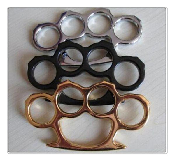 Wholesale Free Biker Black Steel Lron Knuckles Fist Fighting Equipment Outdoor Self-defense Supplies 100g gloves for work