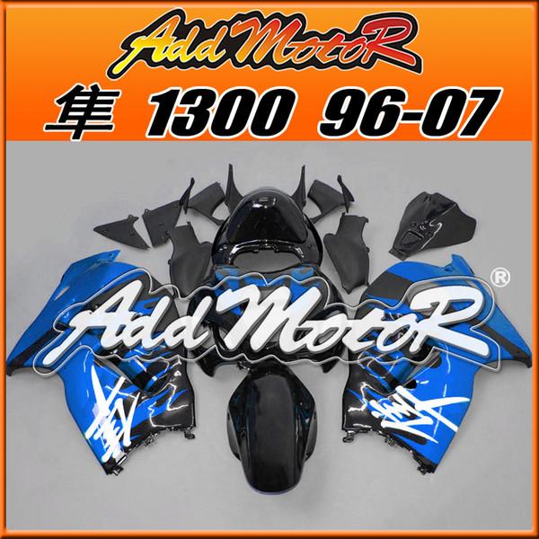 Meilleur vente Carénages Addmotor Injection Moulage Plastique Pour Suzuki GSXR1300 Hayabusa 96-07 Bleu Noir S3633 +5 Cadeaux Meilleur Meilleur Chioce
