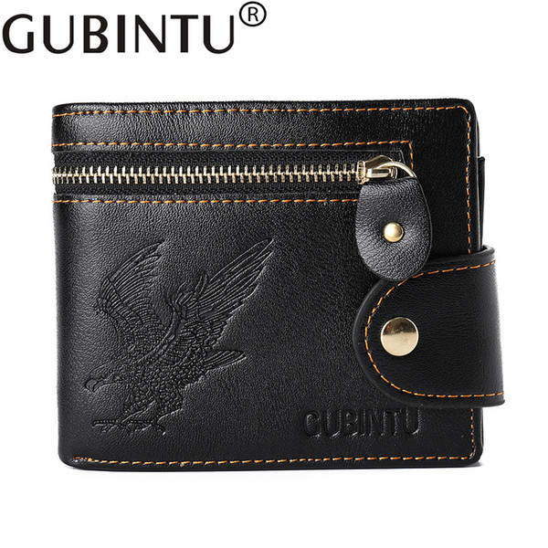 Trifold PU Leather Portable Purse 3 Card Holders Wallet For Women Men Unisex Black Color R029