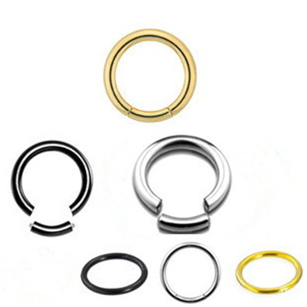 626760c91 2016 Fashion 8/10mm Hoop Nose Stud Clip On Lip Ear Cartilage Earring  Segment Ring
