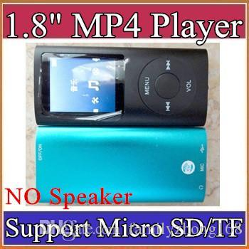 best selling 1.8 inch Screen 4th mp3 mp4 Player with card slot without speaker Voice Recorder 9 colors USB Cables+Earphones+Retail Boxes A-MF