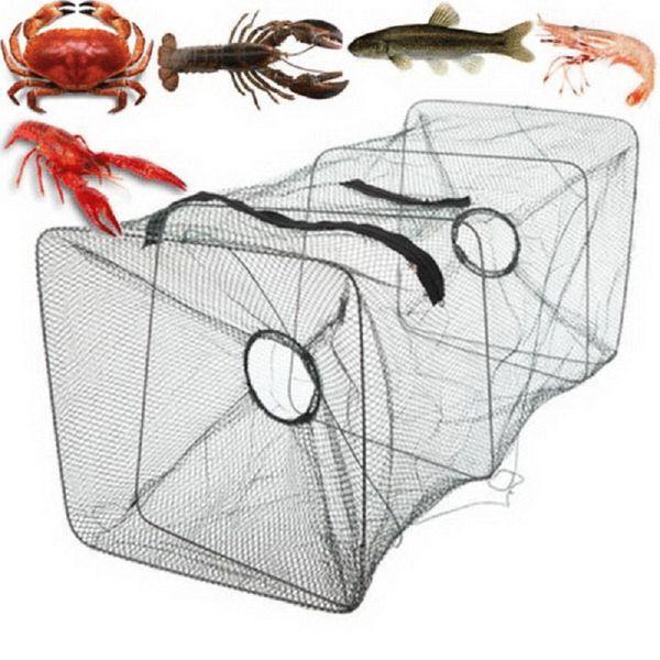 top popular Fishing Bait Trap Dip Cast Net Cage Crab Minnow Crawdad Shrimp Foldable F00030 2019
