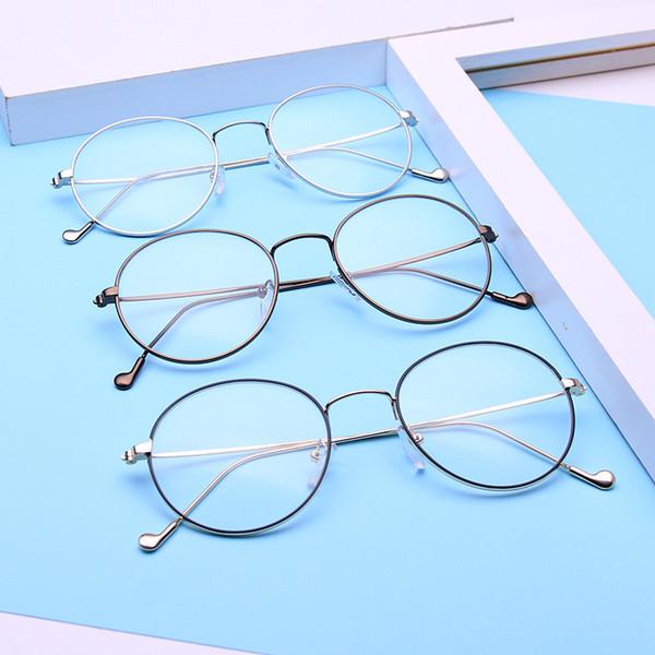 2017 Literature Fashion Glasses Frame Light Thin Metal Alloy ...