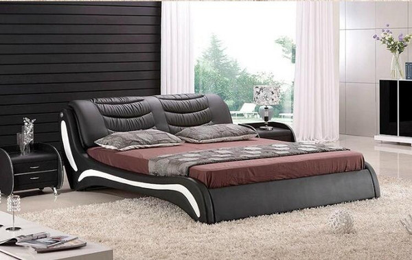 2019 High Quality Factory Price Royal Large King Size Genuine Leather Soft  Bed Bedroom Furniture Soft Bed K0056 From Tengtank, $854.28 | DHgate.Com