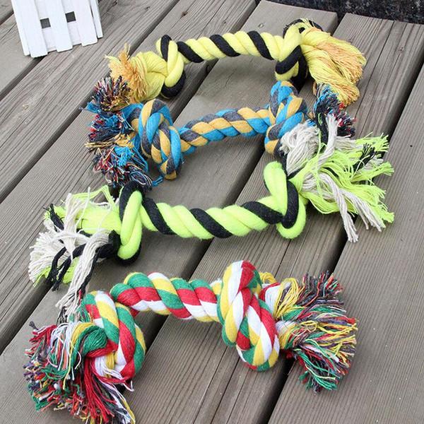 Köpek Oyuncaklar PETS 1 x Eğlenceli Pet Düğüm Oyuncak Pamuk Chew Örgülü Kemik Halat Renk Yavru Köpek Evcil
