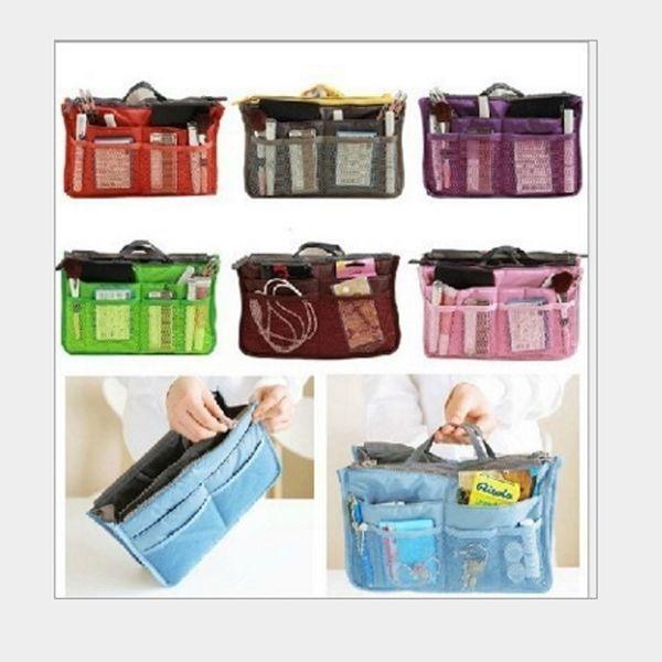 30 pcs Saco de Cores Dupla Inserção Multi-função Bolsa de Maquiagem Saco de Bolso Saco Organizador de Lavar Cosméticos Bolsa