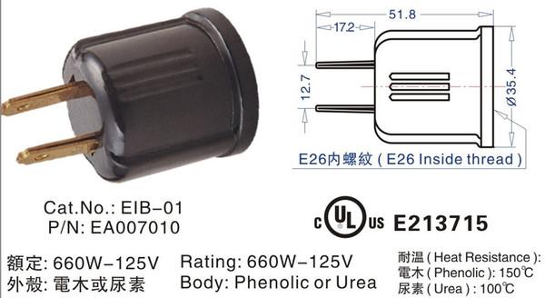 Online Cheap Non Grounding Usa Plug Ploarized Socket Adapter ...