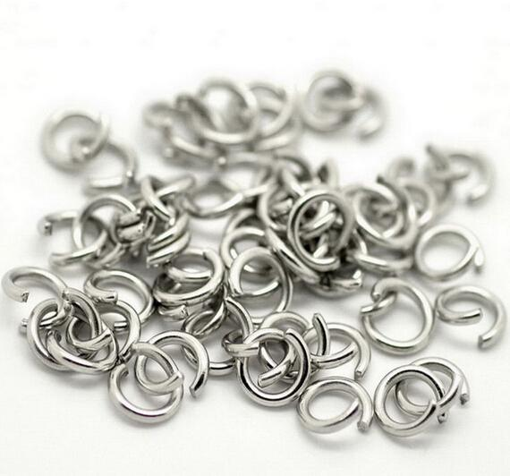 1000pcs/Lot More Size Jewelry Findings accessories Strong stainless steel silver Jump Ring & Split Ring DIY Jewelry Finding & Components