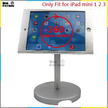 tablet stand display lock holder safe desktop iPad mini 1 2 Tablet Holder aluminum Mount holder stand for desk