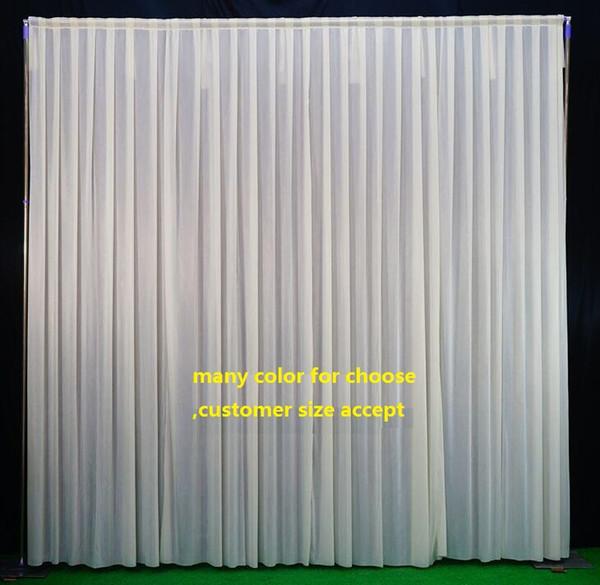 Background drop Wedding Party Stage Celebration Background Satin Curtain Drape Pillar Ceiling Backdrop Marriage decoration Veil WT031