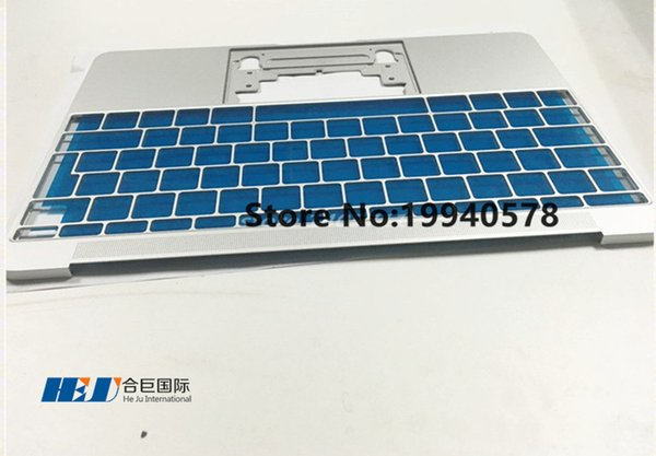 Freeshipping Original NEW UK Silver topcase palmrest only NO trackpad NO keyboard for Macbook A1534 2015 Wholesales MOQ:5pcs