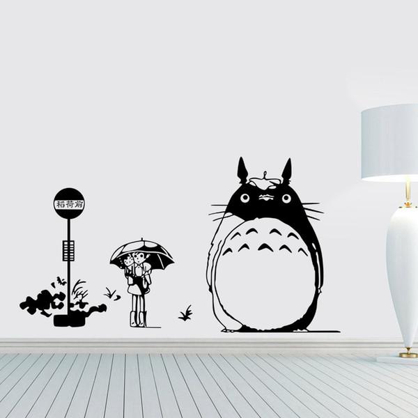 New Arrival Japanese Cartoon Totoro Wall Sticker My Neighbor Totoro Vinyl Wall  Decal Kidu0027s Room Home