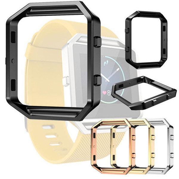 For Fitbit Blaze Accessory Watch List Box Watchcase Frame Holder Case Cover Metal Band For Fitbit Blaze Smart Watch DHL Free OTH220