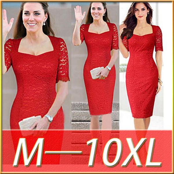 Großhandel 2016 Summer Fashion Frauen Tutu Kleid-elegante rote ...