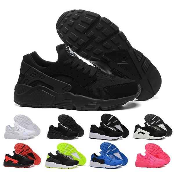 Großhandel Air Huarache Ultra Laufschuhe Für Männer Frauen, Frau Herren Schwarz Weiß Air Huaraches Huraches Sport Sneakers Athletic Trainers Von