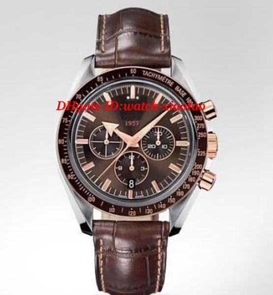 Bracelet Cuir Montres de Luxe BROAD ARROW CHRONOGRAPH new GOLD 321.93.42.50.13.001 Quartz 42mm Montre Homme