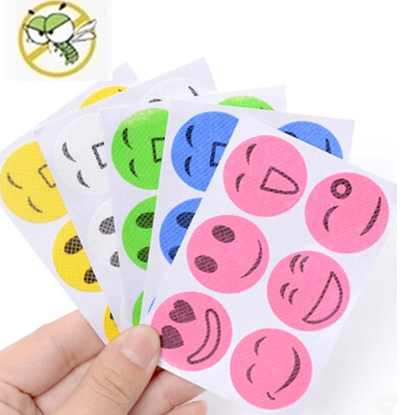 best selling Mosquito Repellent Patch Smiling Face Drive Midge Mosquito Killer Cartoon Anti Mosquito Repeller Sticker Mix Color