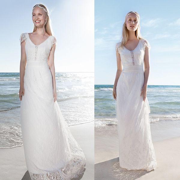Discount Rembo Styling 2016 Beach Wedding Dresses V Neck Short ...