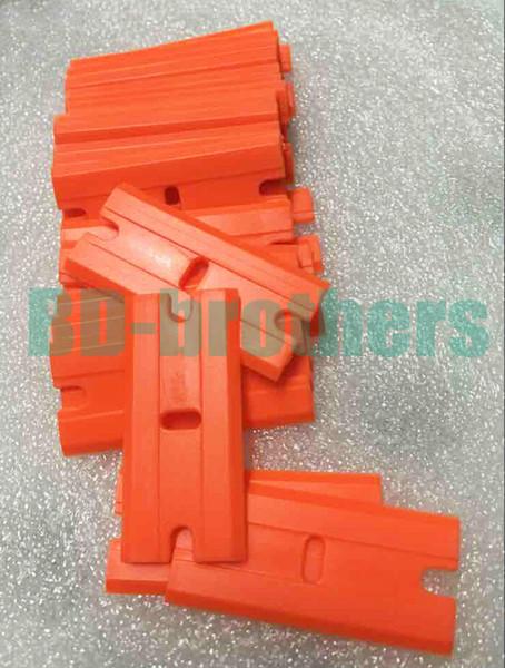 Wolesale Orange Plastic Razor Scraper Blades Double Edged Plastic Razor Blades Squeegee 2000pcs/lot