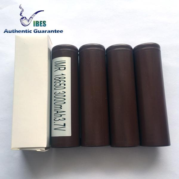 top popular 100% Authentic LG HG2 18650 Battery - 3000mah 30a Max Discharge Rechargeable High Drain Battery For Electronic Cigarette Box Vape Mod 2021