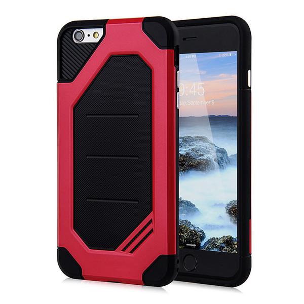 Nouveau téléphone portable accessoires dur backcover pc armure forte tpu résistant armure robuste pour iphone 7 7+ 8 8+