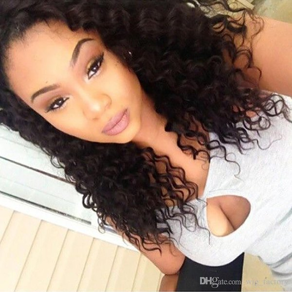 Front Lace Wigs Deep Wave NEW 100% Unprocessed Indian Hair With Baby Hair Long Length Lace Human Hair Wigs For Black Women